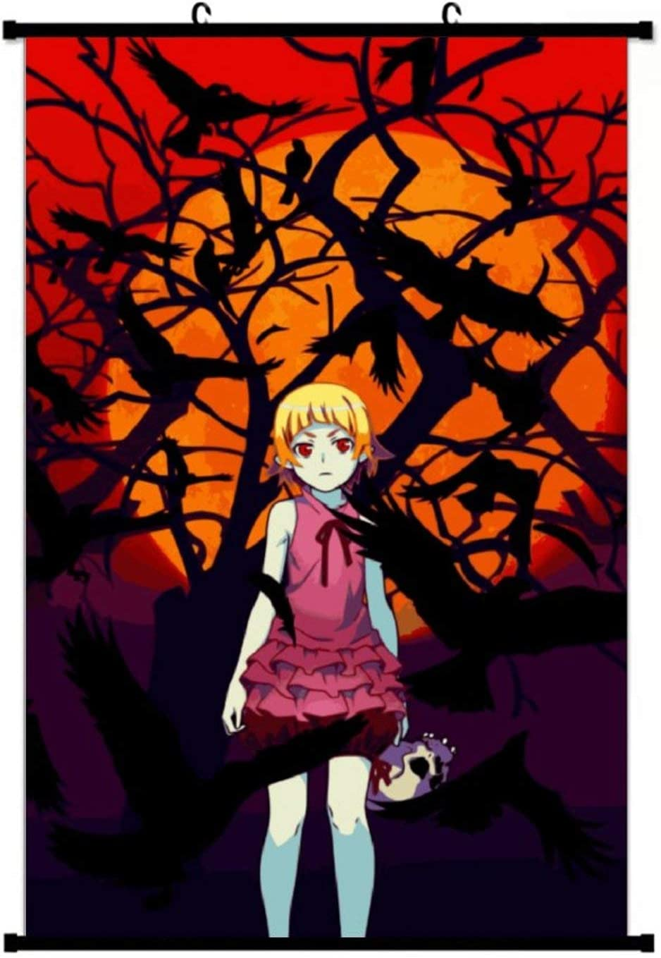 Shinobu - Kizumonogatari Wall Scroll Poster Home Decor Artwork Hanging Painting Art Print Painting for Living Room Office Fans Gift 20x28 Inch