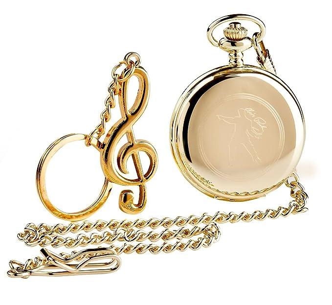 Dorado firmada por Elvis Presley Full Hunter reloj de ...