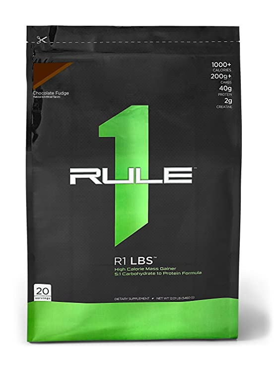 Rule1 R1 LBS 20 Servings - 12.1 Lbs (Chocolate Fudge) Sports Supplements at amazon