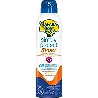 Banana Boat Simply Protect Sport Sunscreen Spray, Reef Friendly, SPF 50+, 170 Grams