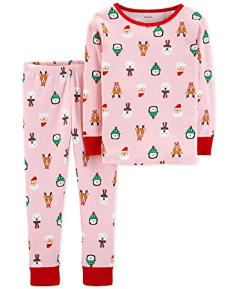 cc89cbbb7 Amazon.com  Carter s Little Girls  Holiday 2-Piece Snug Fit Cotton ...