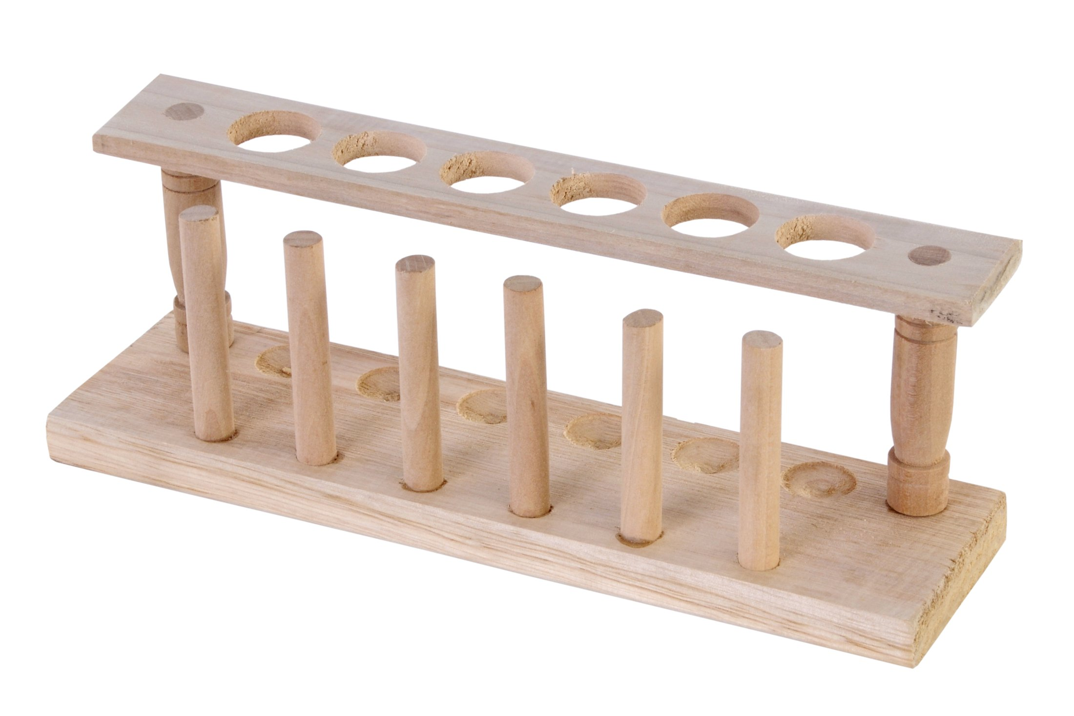 American Educational Wooden 1 Row Test Tube Rack, 6 Tube