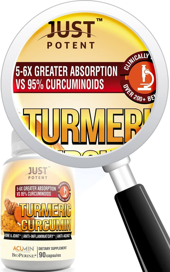 Just Potent Turmeric Curcumin Supplement Ultra-High Absorption Patented