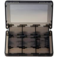 Gam3Gear 28 i 1 skyddande spelkort minneskort stylus förvaringsväska för Nintendo 3DS 3DS XL svart