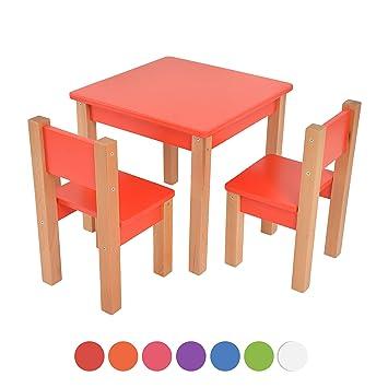 Kindertisch Mit 2 Stuhle 3 Tlg Set Sitzgruppe Fur Kinder Aus