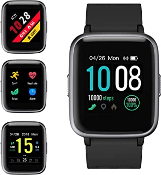 GRDE Smart Watch, Fitness Tracker Watch Activity Tracker Full Touch Screen Smartwatch 5ATM Waterproof with Heart Rate, Sleep Monitor, Step Counter ...