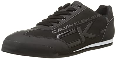 Cale Matte Smooth/Patent, Mens Low-Top Sneakers Calvin Klein