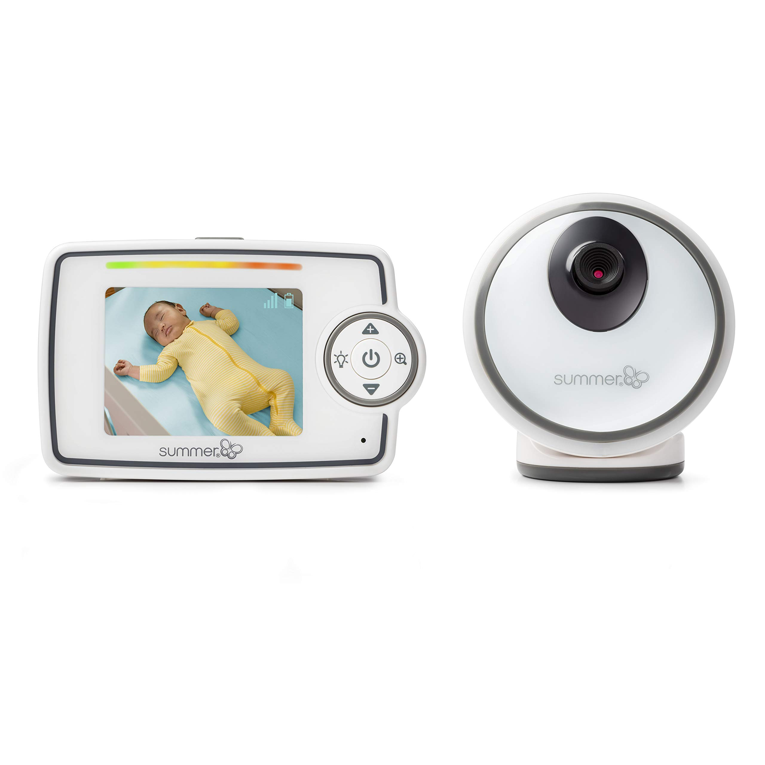 Summer Glimpse Video Baby Monitor with 2.8-inch LCD Color Screen and Remote Steering Camera - Baby Video Monitor with Remote Digital Zoom and Voice Activated On/Off Technology by Summer Infant (Image #1)