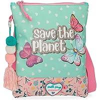 Movom Save The Planet Bandolera Plana Multicolor 20x24 cms Poliéster Reciclado