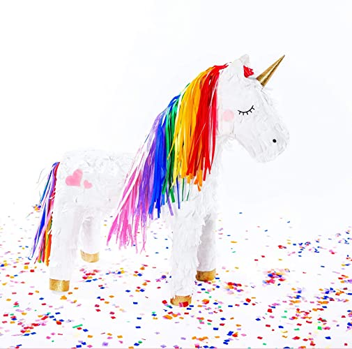 Amazon com: Rainbow Unicorn Piñata: Handmade