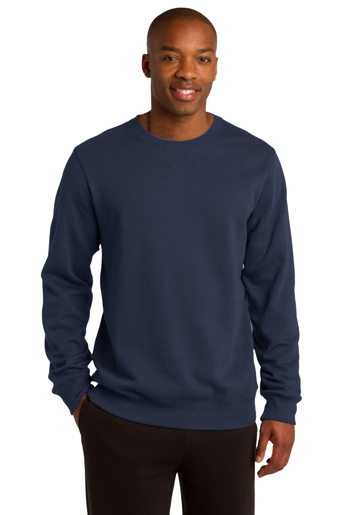 Sport-Tek Men's Crewneck Sweatshirt M True Navy by Sport-Tek