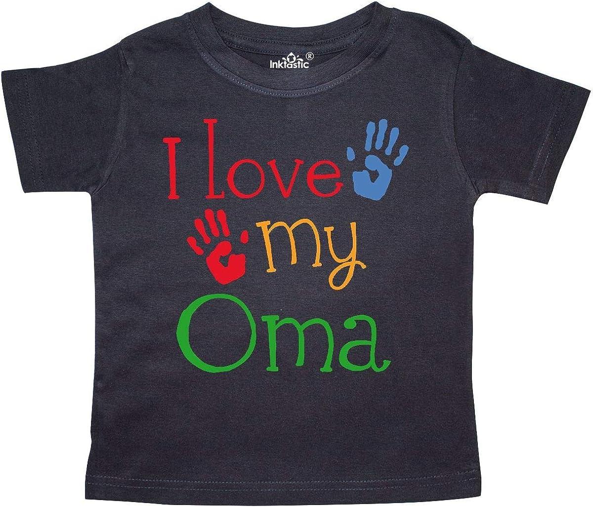 inktastic My Oma Loves Me Grandchild Gift Toddler T-Shirt