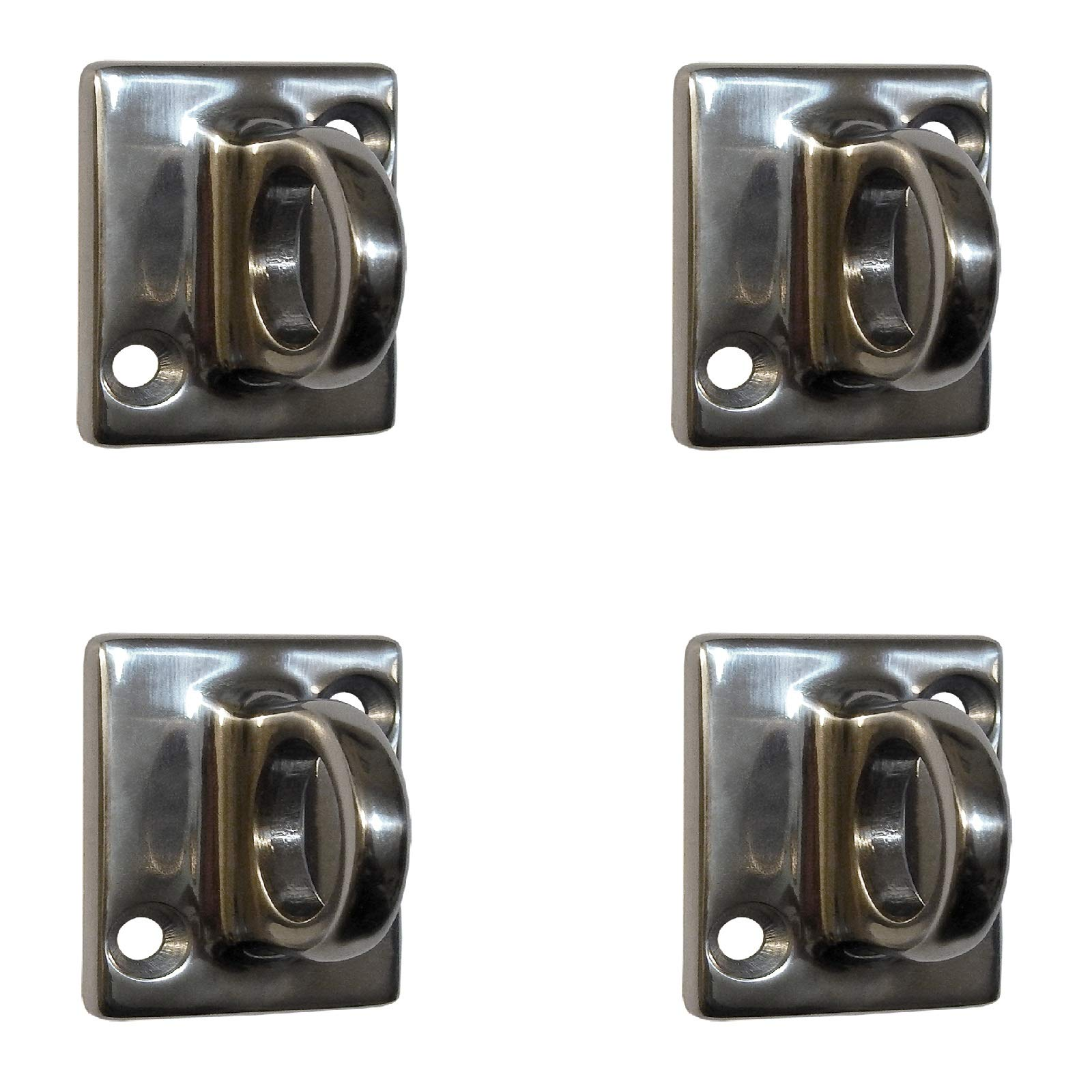 Rope Stanchion Decorative Stainless Steel Wall Plate Holder, CROWD CONTROL CENTER (4 pcs Mirror) by Crowd Control Center
