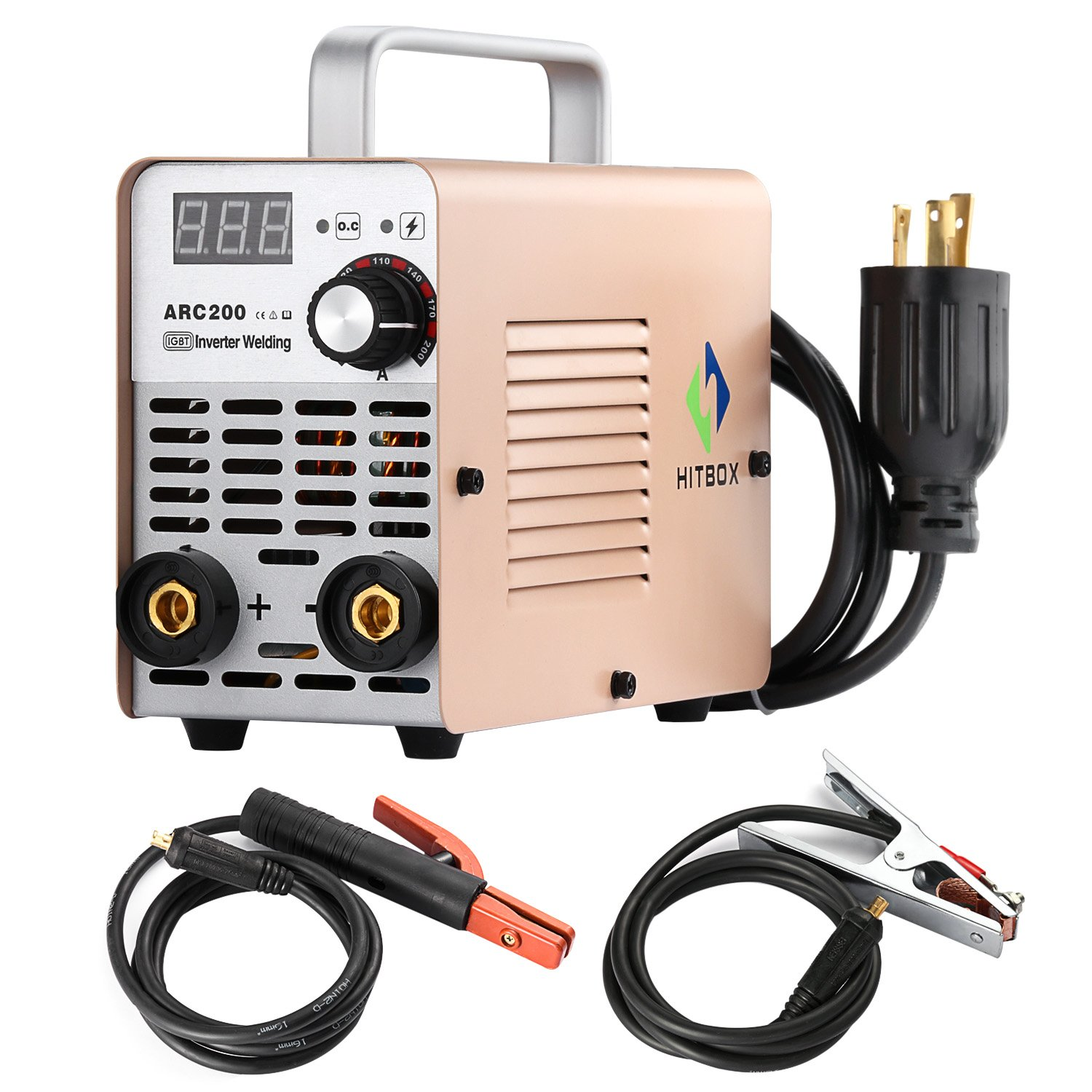 ARC Welder 200A Stick DC 220V Inverter Welding Machine MMA200 ZX7 Rod Stick Portable Welder Complete Package Ready to Use
