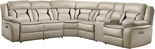 Homelegance Amite 6-Piece Power Reclining Sectional Sofa