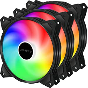upHere 120mm 3pin LED Rainbow Ventilador para Ordenador ...
