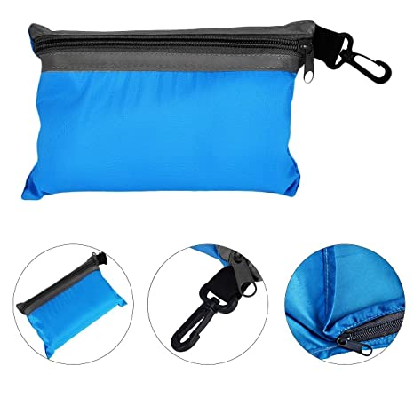 Silk Individual Forro Saco De Dormir Viajes Campamento Mini saco de dormir (Azul de cielo