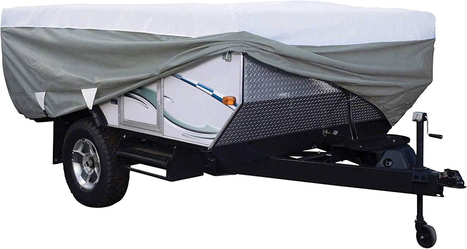 Classic Accessories Over Drive PolyPRO3 Deluxe Pop-Up Camper Trailer Cover, Fits 14' - 16' Trailers (80-041-173106-00): Automotive