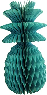 product image for 3-Pack Solid Colored 13 Inch Honeycomb Pineapple Party Decoration (Teal Green)