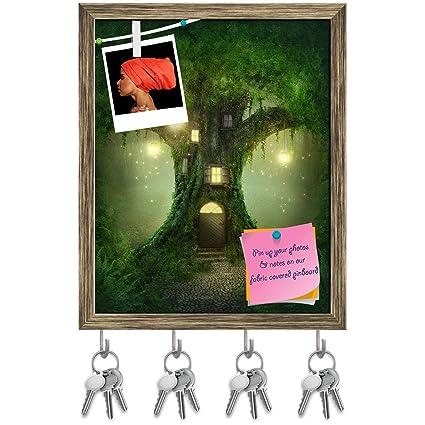 Amazon com: Artzfolio Fantasy Tree House in Forest D3 Key Holder