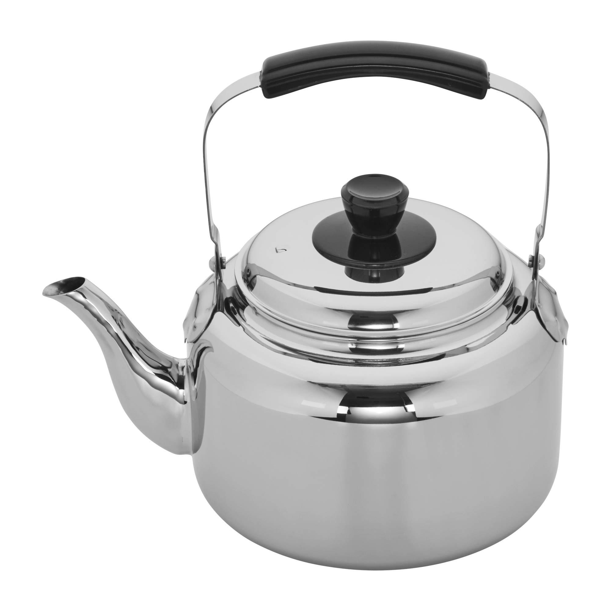 Demeyere 10106 RESTO Stainless Steel Tea Kettle, 6.3-qt