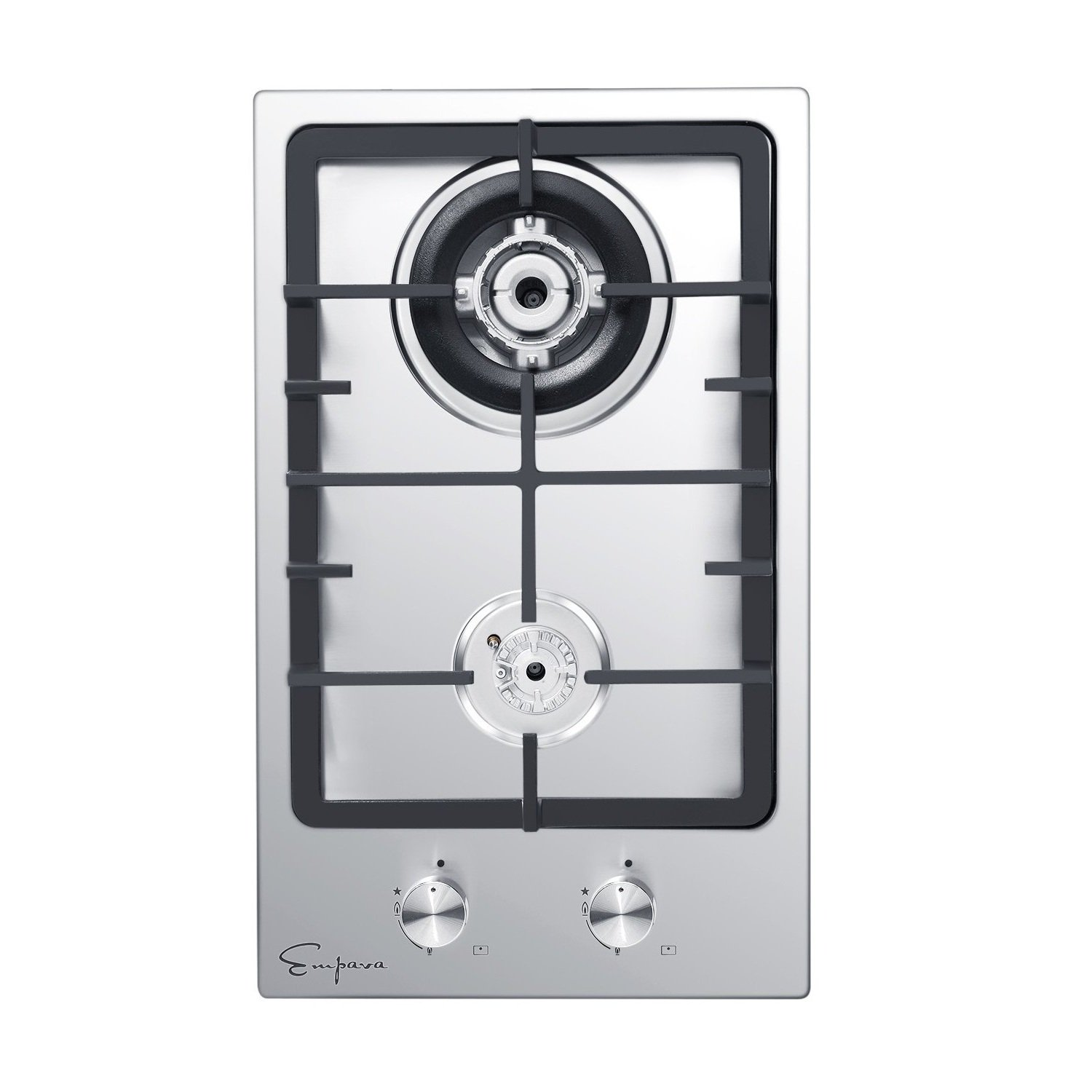Empava 12'' Stainless Steel 2 Italy Sabaf Burners Stove Top Gas Cooktop EMPV-12GC010 by Empava
