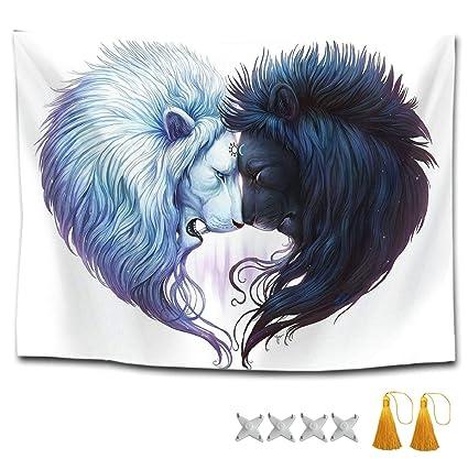 Amazoncom Cxletti Sun Moon Lion King Queen Heart Mandala