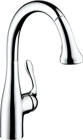 Hansgrohe Allegro E Gourmet Premium 1 Handle 15 Inch Tall Kitchen Faucet With Pull Down Sprayer With Quickclean Magnetic Docking Spray Head In Chrome 04066000 Touch On Kitchen Sink Faucets Amazon Com
