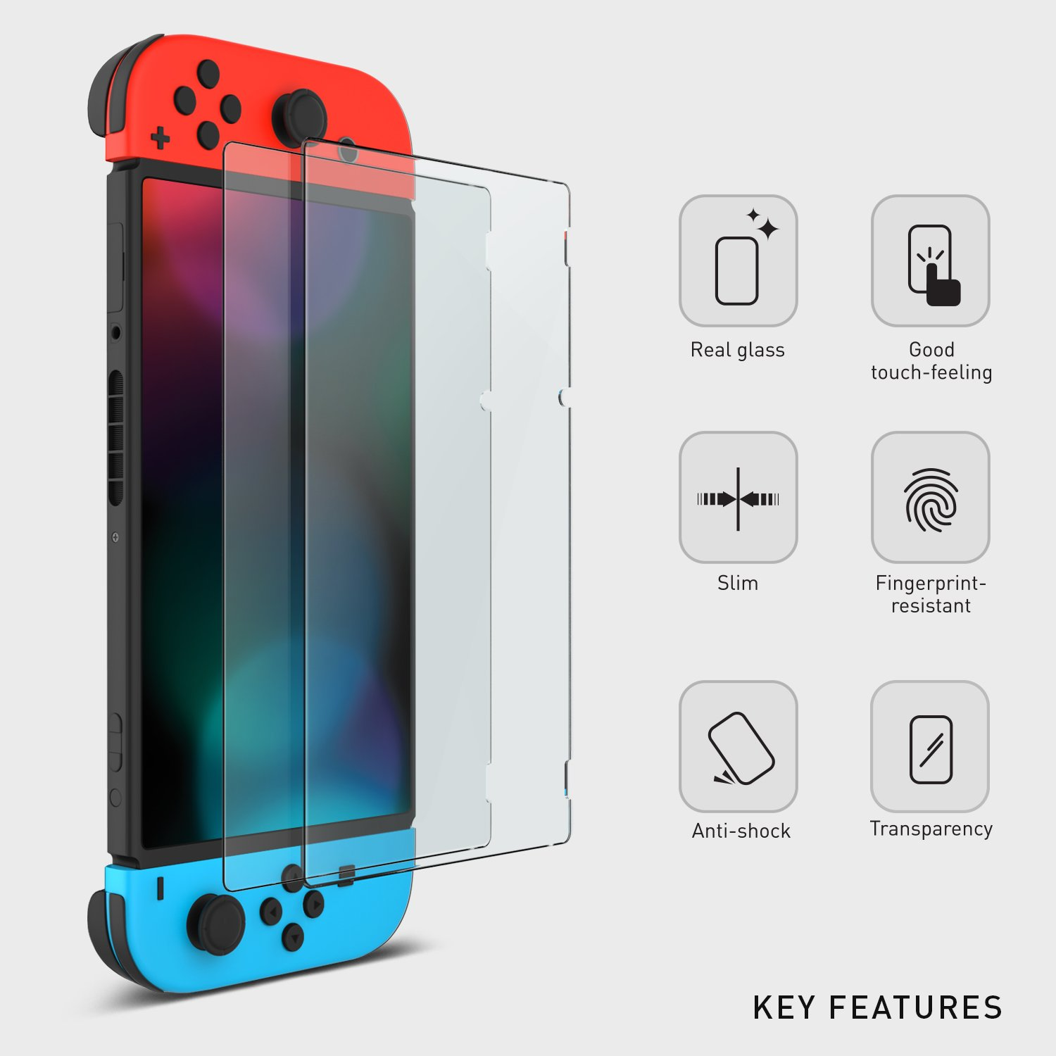 tempered glass nintendo switch