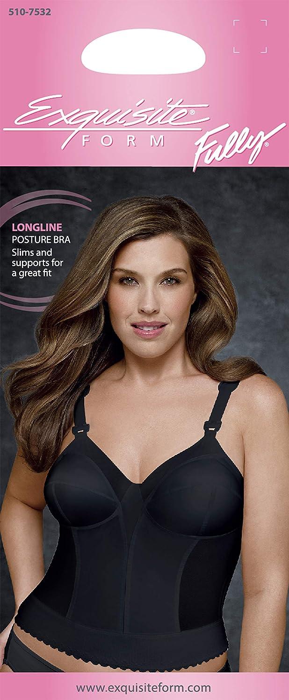 Details about  /Exquisite Form Fully Women/'s Longline Lace Posture Choose SZ//color
