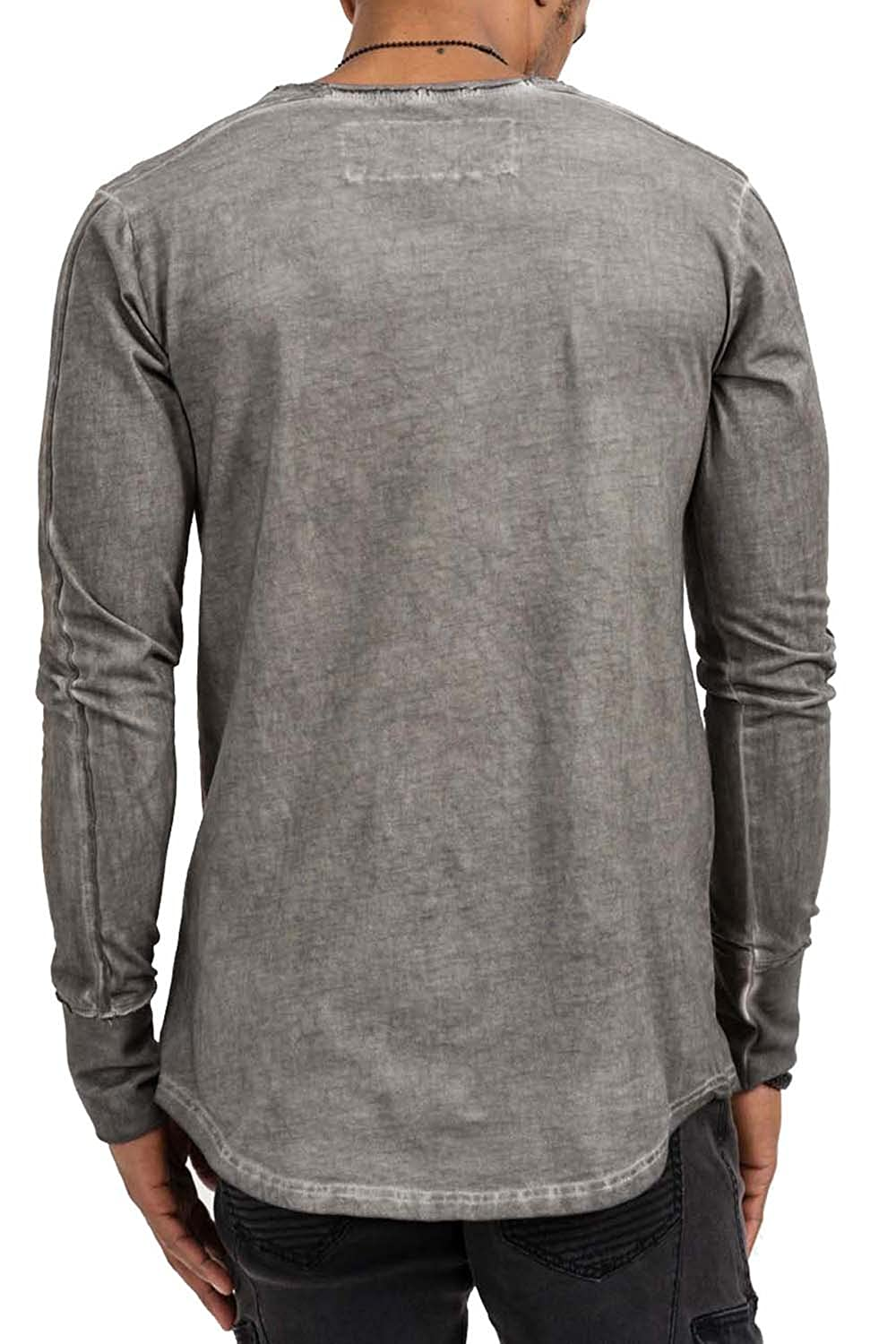 trueprodigy Casual Mens Clothes Funny And Cool Designer Long Sleeve T-Shirt  For Men Plain Crew Neck Slim Fit Long Sleeve Anthra Sale: Amazon.co.uk:  Clothing