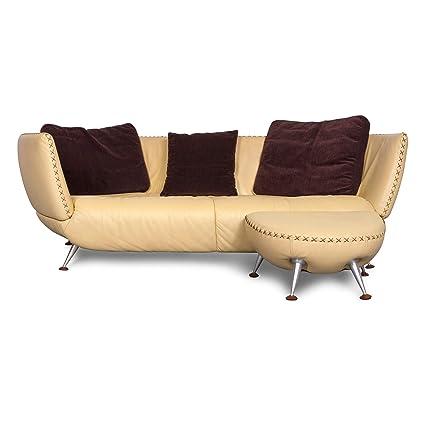 Amazon Com De Sede Ds 102 Designer Leather Sofa Beige Genuine