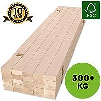 Hansales Rollrost - 300 kg 25 Leisten - Hochwertiger Extra starker Rollattenrost aus echtem Birkenholz - FSC Lattenrost unbehandelt - Lattenrollrost Premium