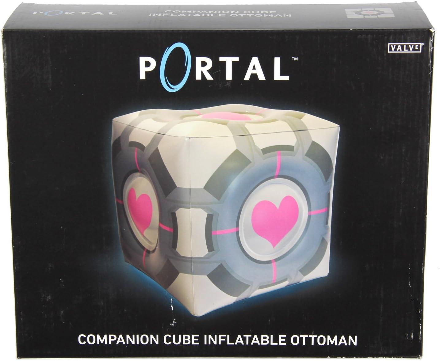 Portail Original Companion Cube Inflatable ottoman