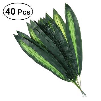 Bestoyard Kunstliche Pflanze Blatt Fur Hawaii Luau Party Hochzeit