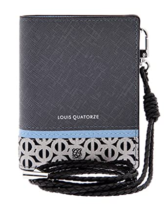 LQ LOUIS QUATORZE Mens Cow Leather & PVC Card Case Wallet ...