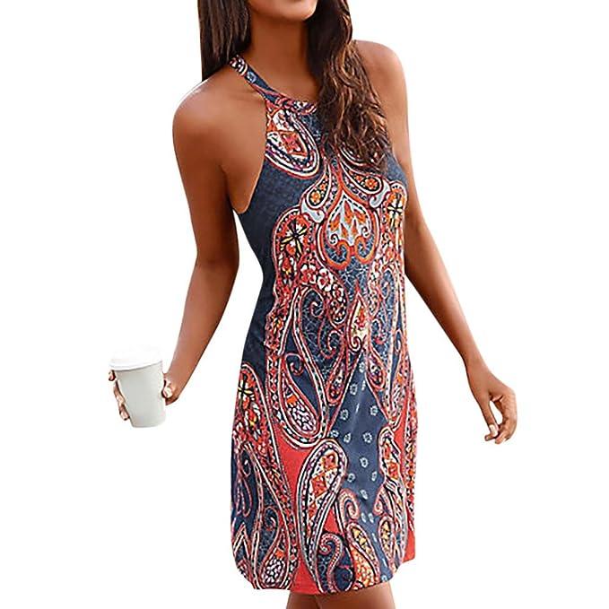 Mujer Vestido Largo con Hombros Descubiertos y Estampado Bohemio Blusa Casual Sólida Primavera y Verano Tamaño