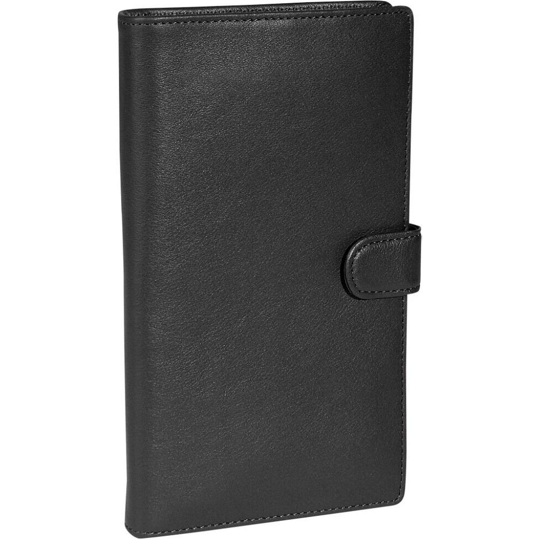 Royce Leather Deluxe Passport Travel Case - Black