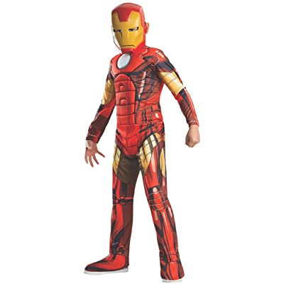 Rubie's Marvel Universe Classic Collection Avengers Assemble Deluxe Muscle-Chest Iron Man Costume, Medium: Toys & Games