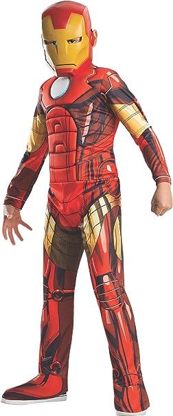Disfraz de Iron Man Vengadores Unidos para niño - 5-7 años: Amazon ...