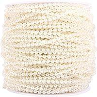50m Bobina di 3mm Perle Perline Decorazione di Nozze Ghirlanda Incatenato Centro