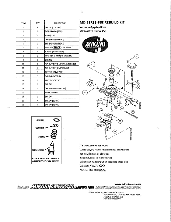 Rhino 450 Carburetor Diagram Home Wiring Diagrams