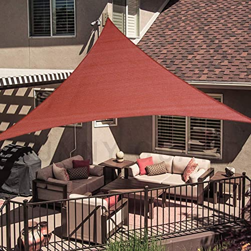 SUNNY GUARD 20 x 20 x 20 Terra Triangle Sun Shade Sail UV Block for Outdoor Patio Garden