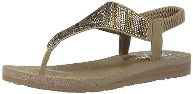 fb70cebb0bee Skechers Women s Meditation - Gypsy Glam Open Toe Sandals  Amazon.co ...