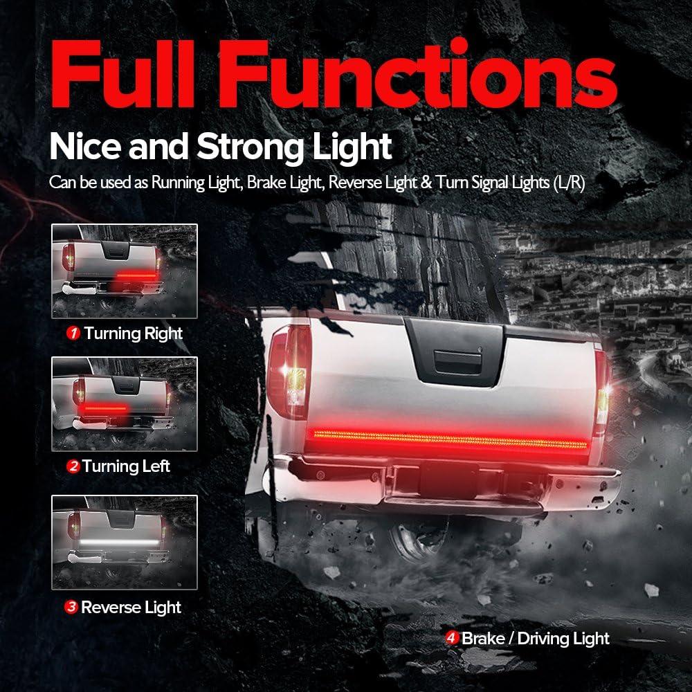 MICTUNING LED Truck Tailgate Light Bar