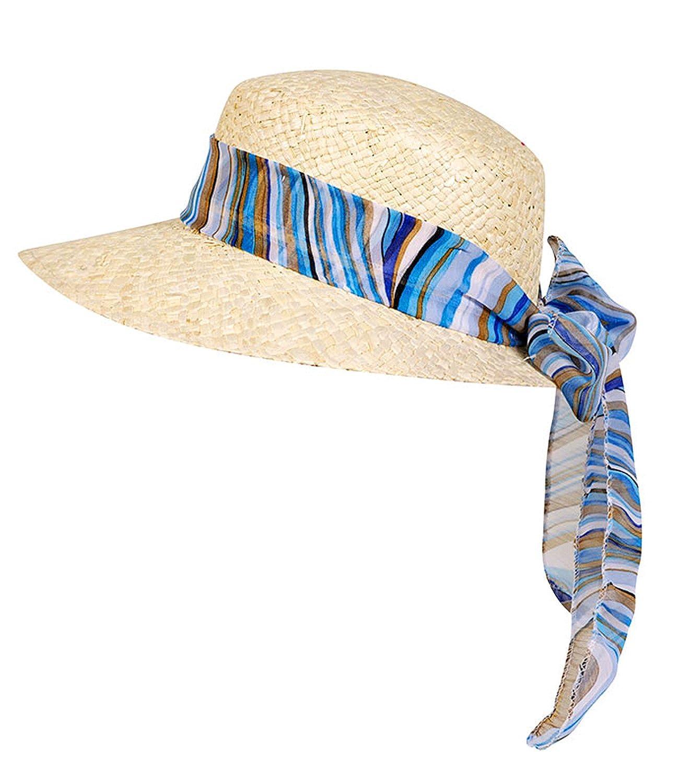 EveryHead Fiebig Casquillo De La Paja Con Cinta Gasa Sombrero Niñas Verano Playa Capa Damas (FI-69711-S16-MA1) incl Hutfibel