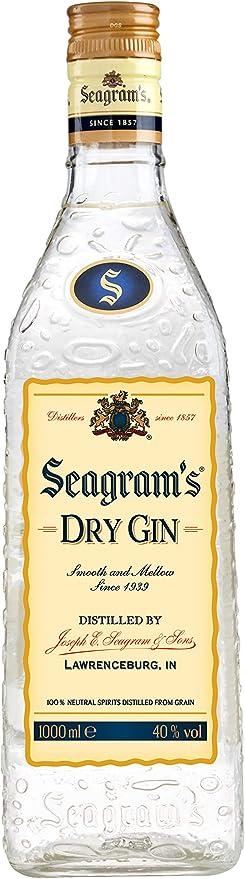 Seagram`s Dry Ginebra Premium - 1 L: Amazon.es: Alimentación ...