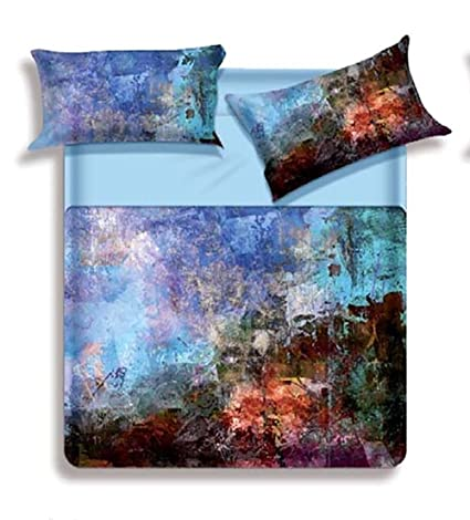 Copripiumino Biancaluna.Biancaluna Miss Terry Volcano Double Bed Duvet Cover Set With