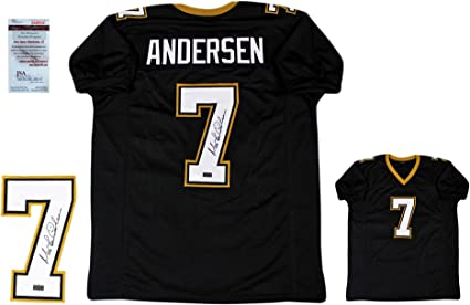 Morten Andersen Autographed SIGNED Custom Jersey - JSA Witnessed ...
