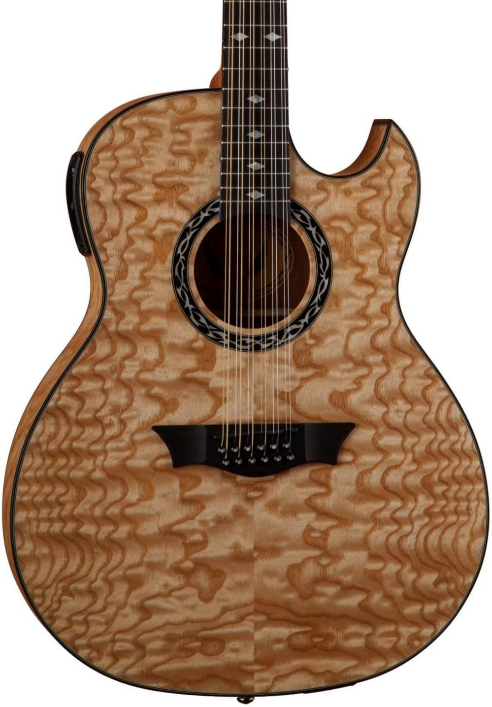 Dean Exhibition Quilt Ash 12-String Acoustic-Electric Guitar Gloss Natural